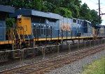 CSX 3078 on detour intermodal train R003